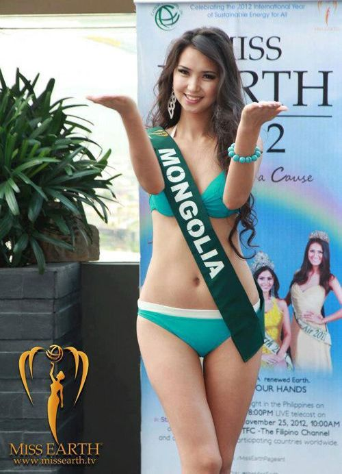 Battsetseg Turbat - Miss Mongolia Earth 2012. photo