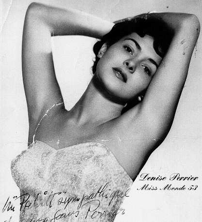 Denise Perrier (France), Miss World 1953. Photo
