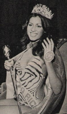 Wilnelia Merced (Puerto Rico) Miss World 1975 Photo