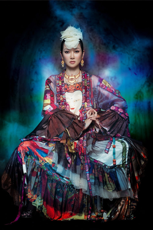 beautiful Chinese Mongolian woman Sa Dingding photo