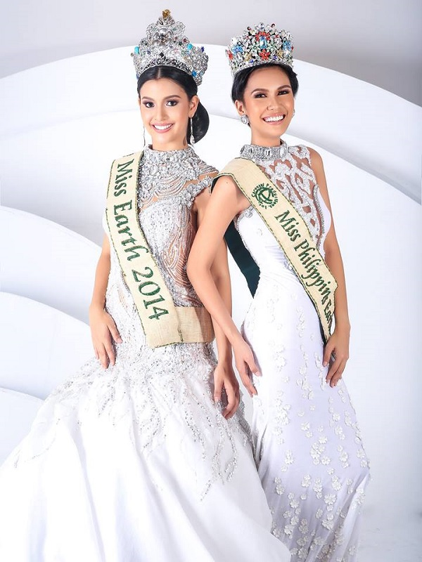 Angelia Ong (Philippines) Miss Earth 2015 and Jamie Herrell (Philippines) Miss Earth 2014