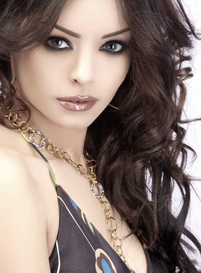 Amany Abolnaga, Egyptian model and TV Presenter. photo