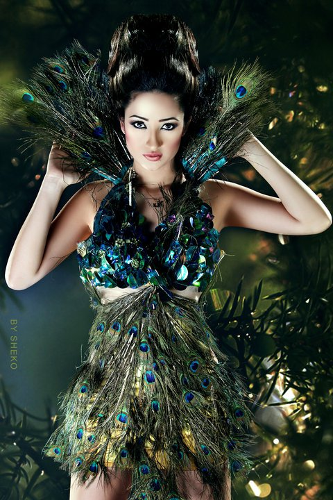 Beautiful Egyptian woman Doaa Hakam Al-Malla, Miss Egypt Earth 2010. photo