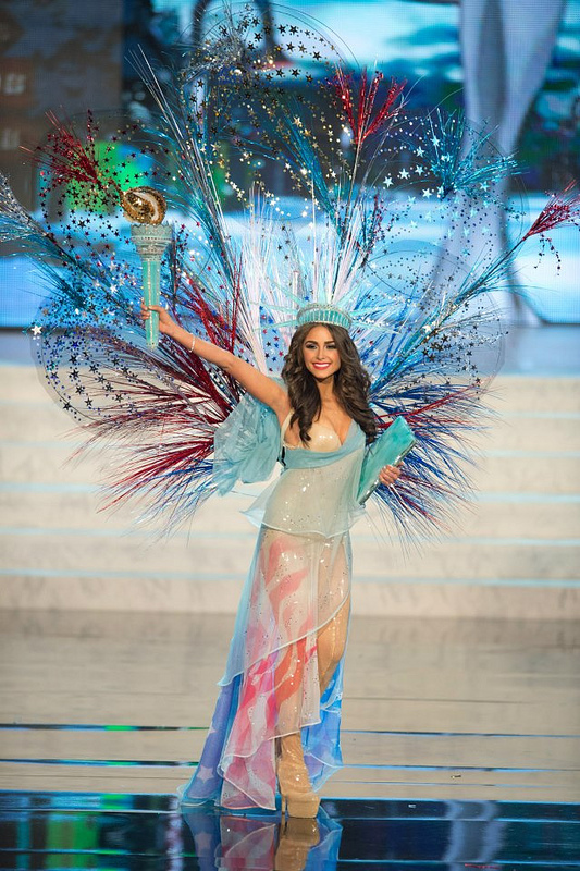 Olivia Culpo in National Costume (Statue of Liberty). photo