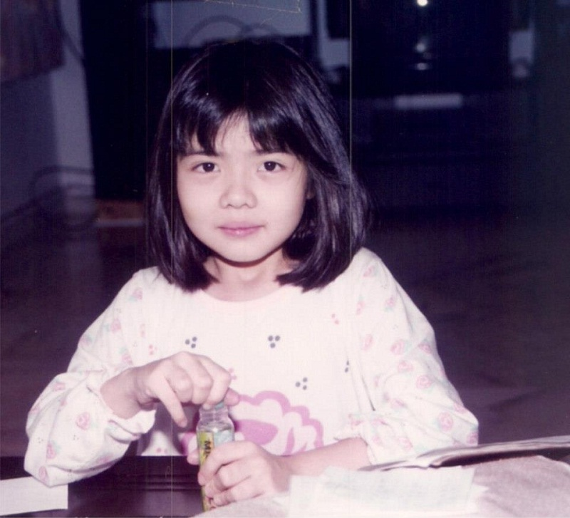 Carey Ng in childhood. photo