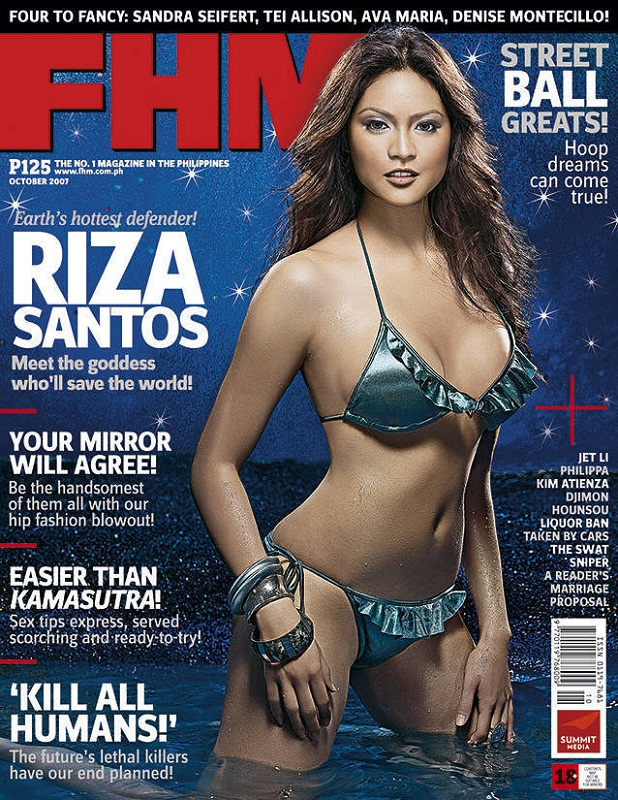 hot Riza Raquel Santos for FHM magazine cover