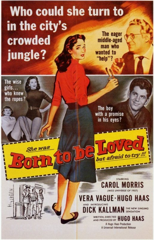 Carol Morris in film Born to Be Loved (1959)