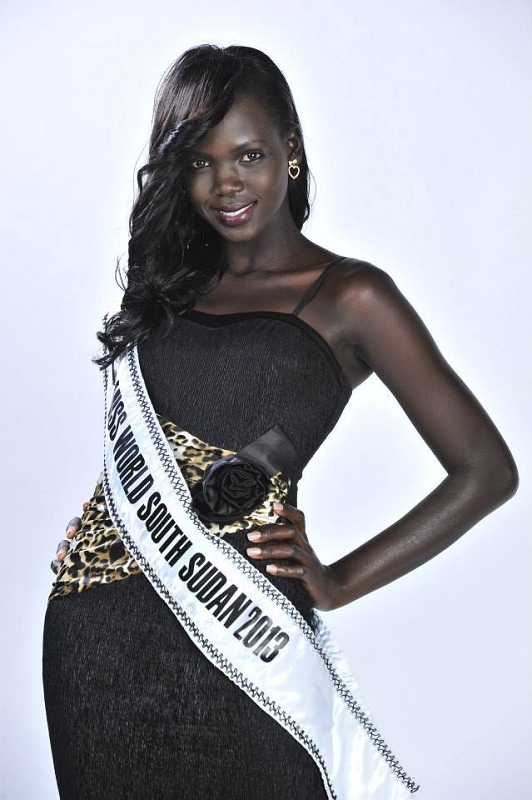 Manuela Mogga Matong Miss World South Sudan 2013 photo