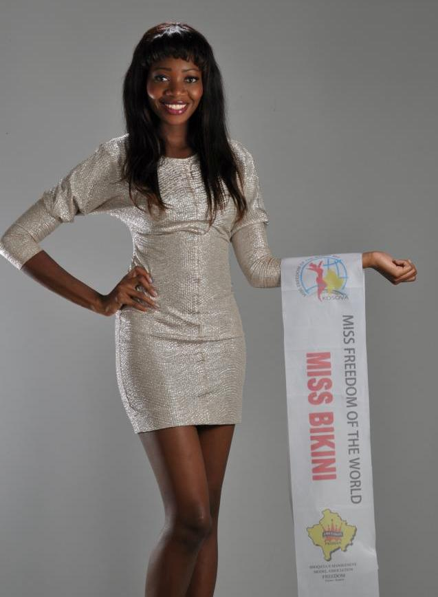 Beautiful Namibian girl Paulina Malulu Miss Namibia World 2013 photo