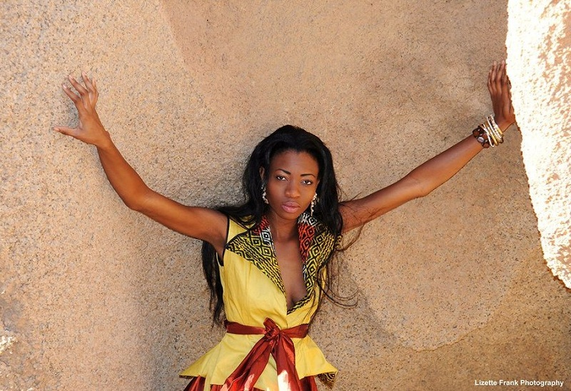 Beautiful Namibian woman Paulina Malulu Miss Namibia World 2013 photo