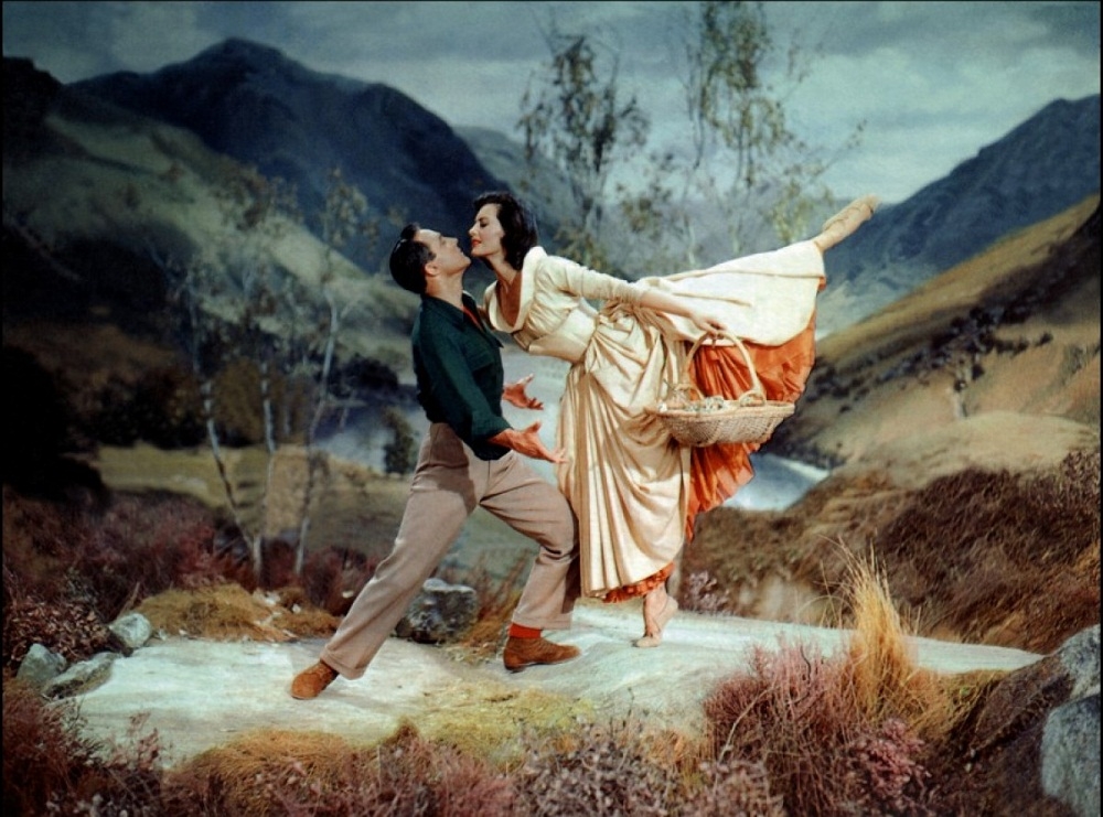 Gene Kelly and Cyd Charisse in Brigadoon (1954 movie)