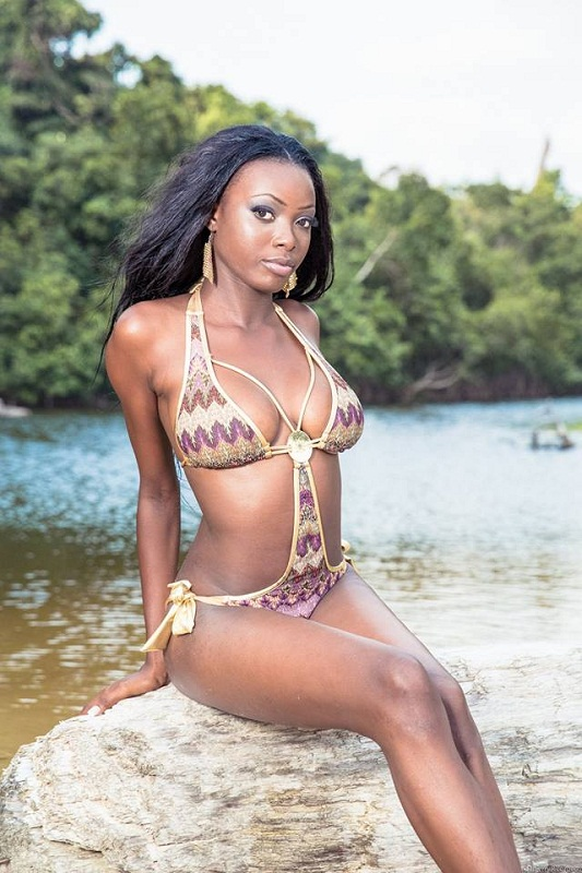 Filiane Mayombo Koundi Miss Gabon Earth 2013. photo