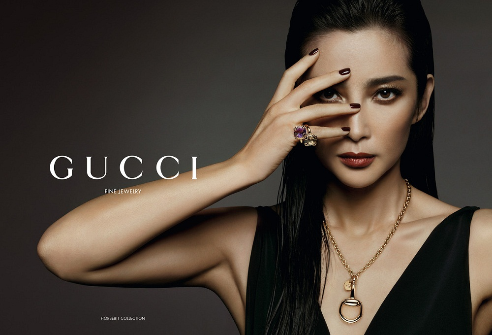 Li Bingbing / 李冰冰 face of Gucci horsebit collection
