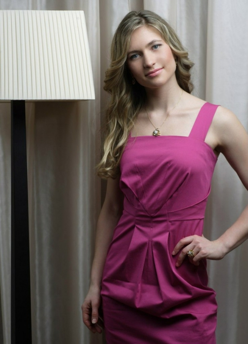 Darya Domracheva in the dress