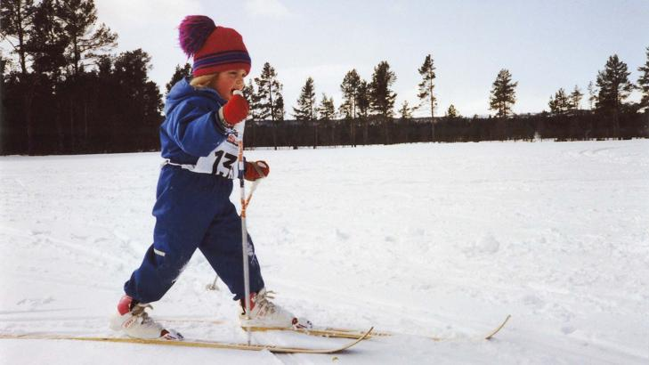 Therese Johaug in a Childhood photo